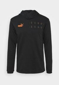 Puma - CASUALS HOODY - Sweat à capuche - black/fizzy orange - 5