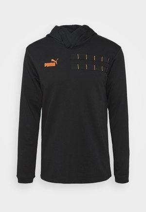 CASUALS HOODY - Sweat à capuche - black/fizzy orange