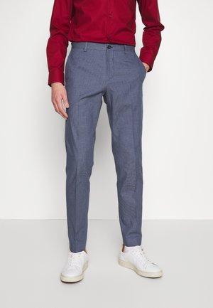FLEX MICRO PRINT SLIM FIT PANT - Pantalon classique - blue