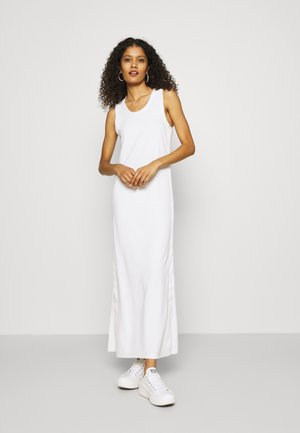 LOGO SCOOP MAXI DRESS - Maxi dress - bright white
