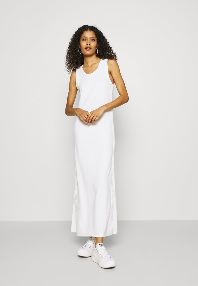 LOGO SCOOP MAXI DRESS - Maxi-jurk - bright white