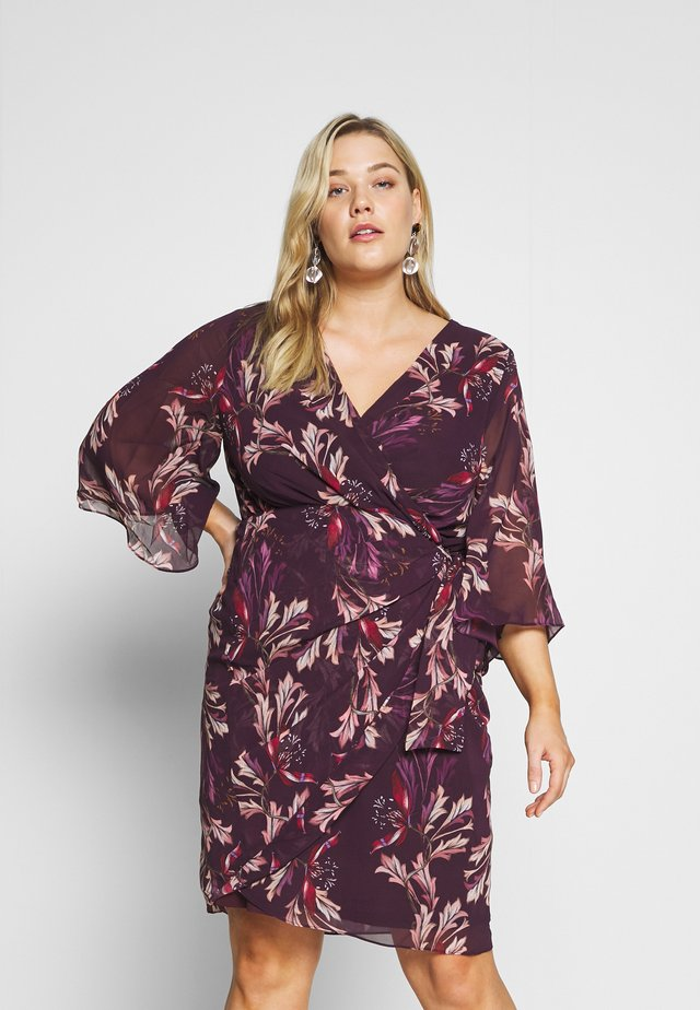 DRESS OPULENT - Korte jurk - vine