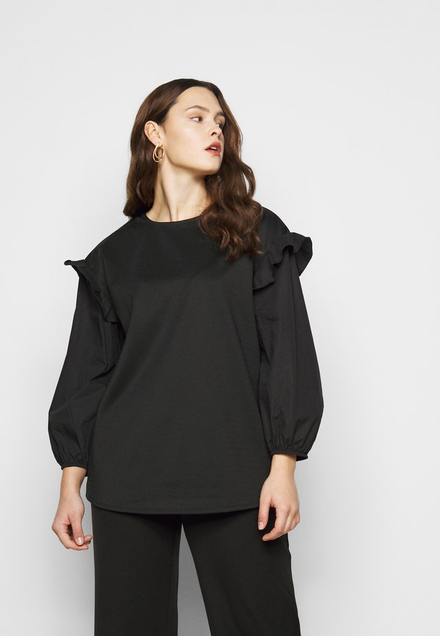 CARLY VOLUME SLEEVE - Mikina - black