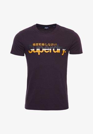 SUPERDRY CORE VINTAGE - Print T-shirt - autumn blackberry marl