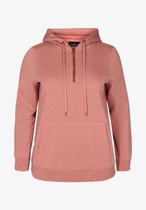 MIT TASCHE UND KAPUZE - Hoodie - pink