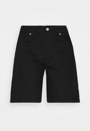 SLFSILLA FOLD UP - Jeansshort - black denim