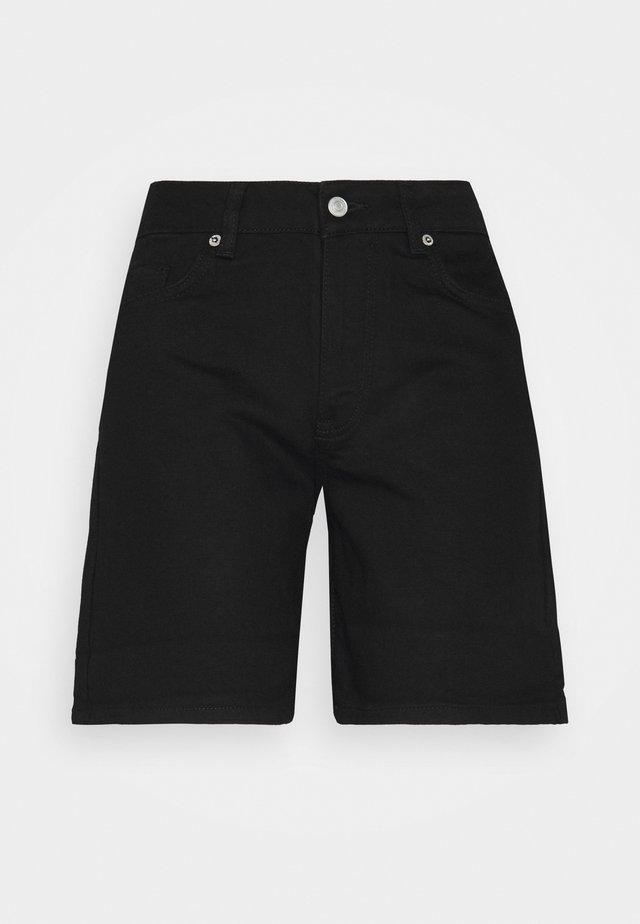 SLFSILLA FOLD UP - Denim shorts - black denim