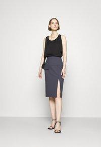 HUGO - RASUSA - Pencil skirt - dark blue - 1