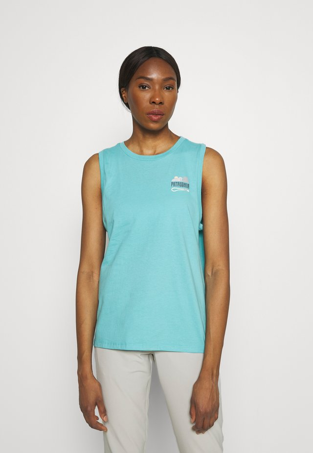 SAVE THE SPLITTERS MUSCLE TEE - Toppi - iggy blue