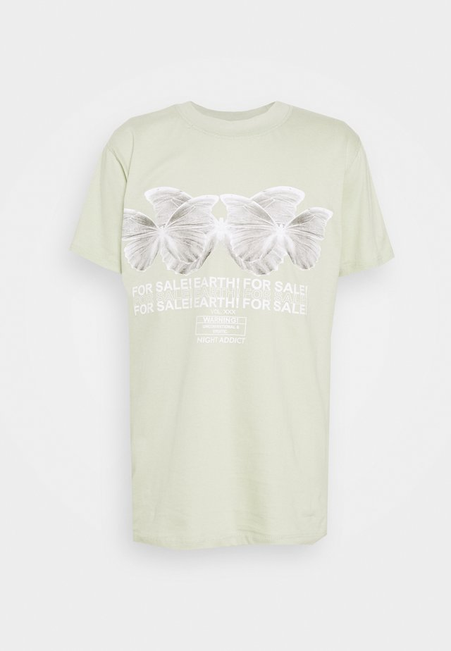 BUTTER - T-shirt con stampa - sage