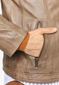 deercraft - CIEL LAAV - Veste en cuir - stone - 4