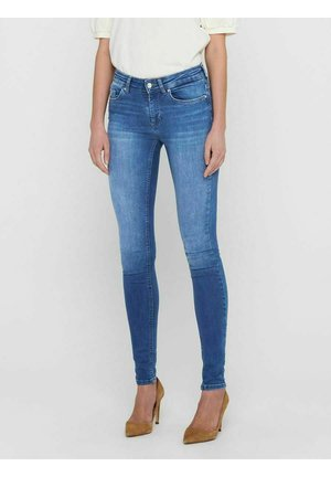 ONLBLUSH LIFE MID SKINNY  REA12187 - Vaqueros pitillo - medium blue denim
