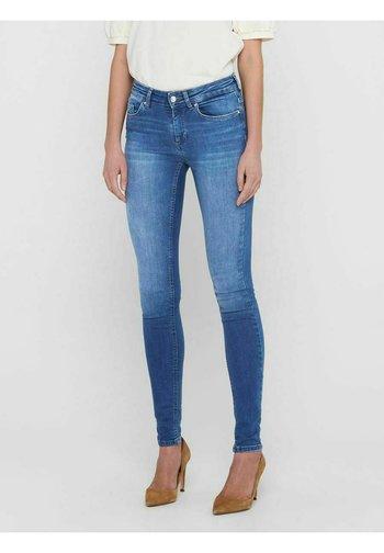 ONLBLUSH LIFE MID SKINNY   - Jeansy Skinny Fit - medium blue denim