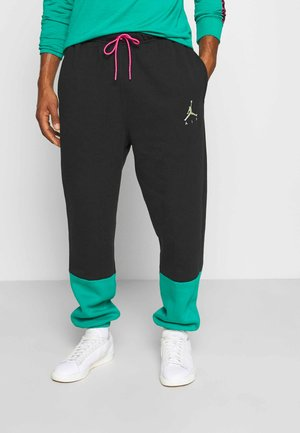 Pantaloni sportivi - black/neptune green/watermelon/barely volt