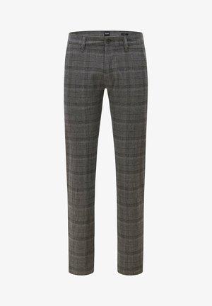 Trousers - grey (black check)