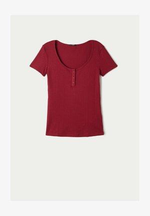 Basic T-shirt - rosso rubino