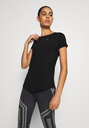 TRAIN FAVORITE TEE REGULAR FIT - Basic T-shirt - black