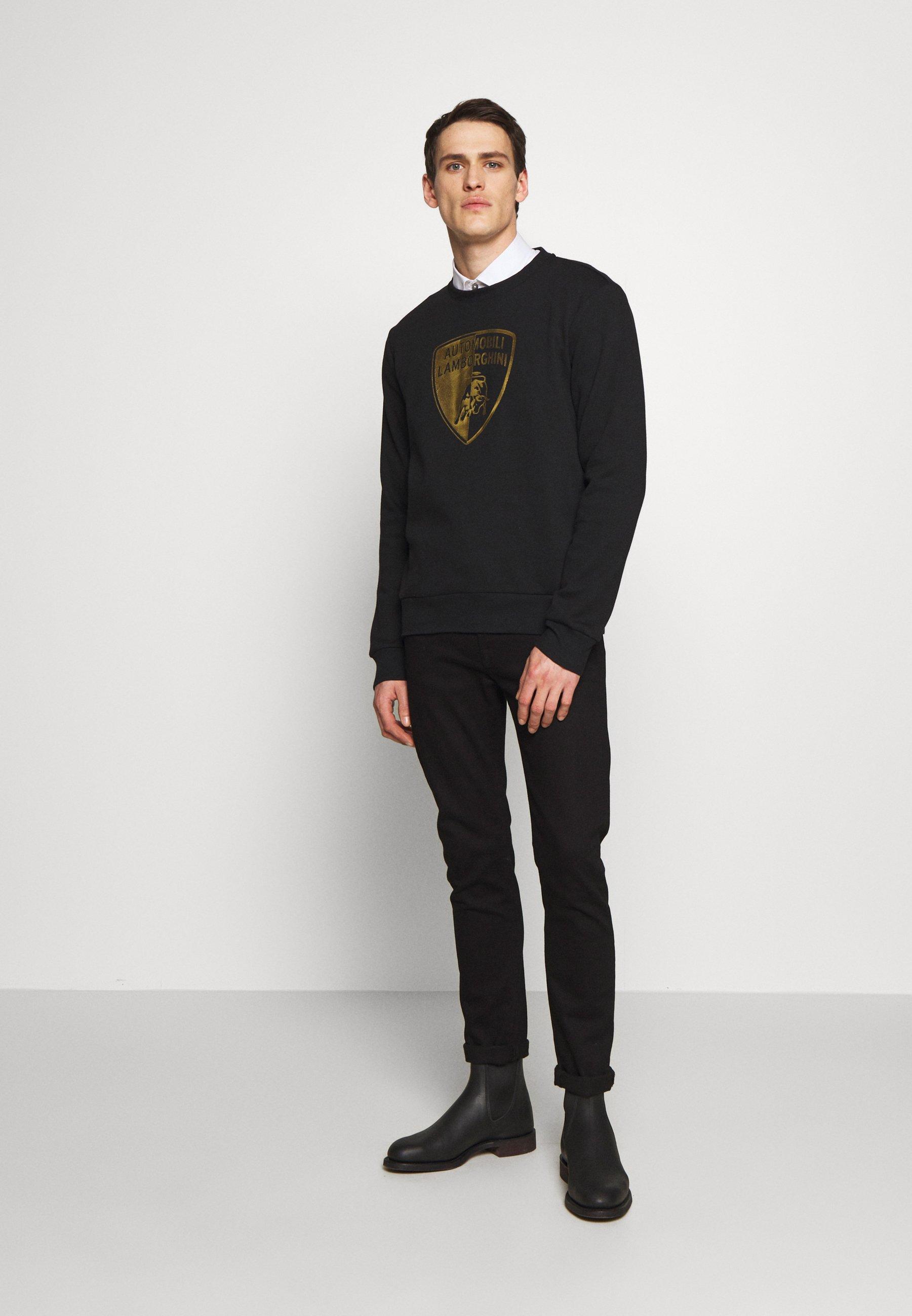 Lamborghini GOLD SHIELD LOGO CREW - T-shirt à manches longues - black