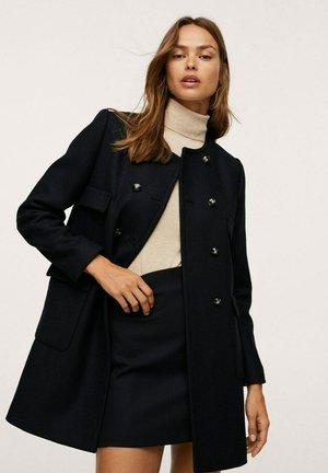 Halflange jas - zwart