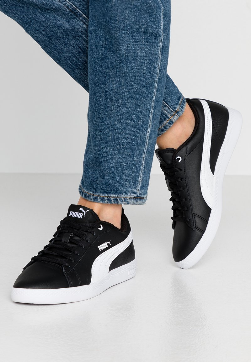 Puma - SMASH - Trainers - black/white