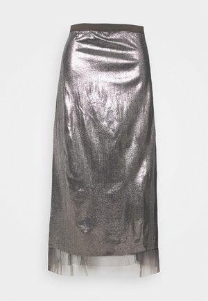 MLMANDY MIDI SKIRT - Maxi skirt - silver