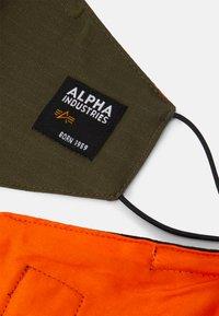 Alpha Industries - LABEL RIPSTOP FACE MASK UNISEX 2 PACK - Látková maska - black/khaki - 1