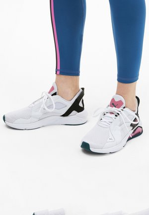 Sneakers laag - white-black-pink