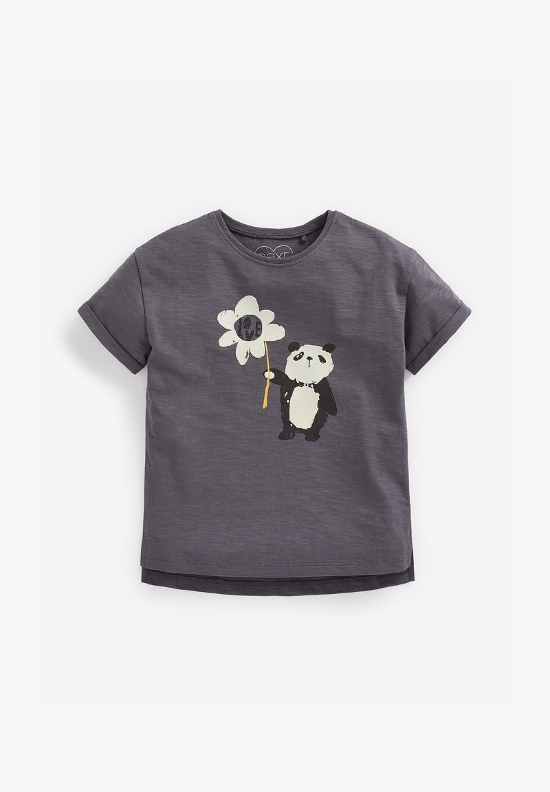 Next - Print T-shirt - grey