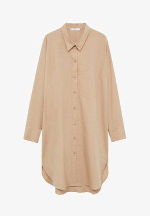 OVER - Button-down blouse - béžová