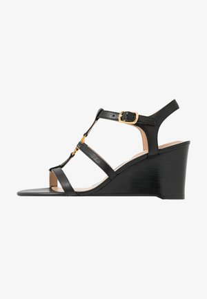 CHARLTON CASUAL WEDGE - Sandály na klínu - black