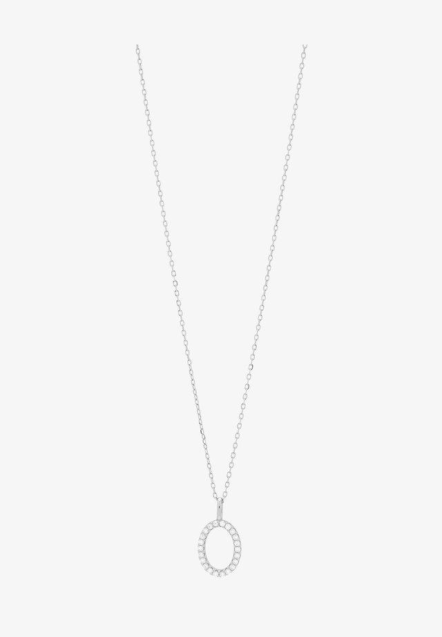 MIT OVALEM ANHÄNGER  UND ZIRKONIA - Halskæder - silver