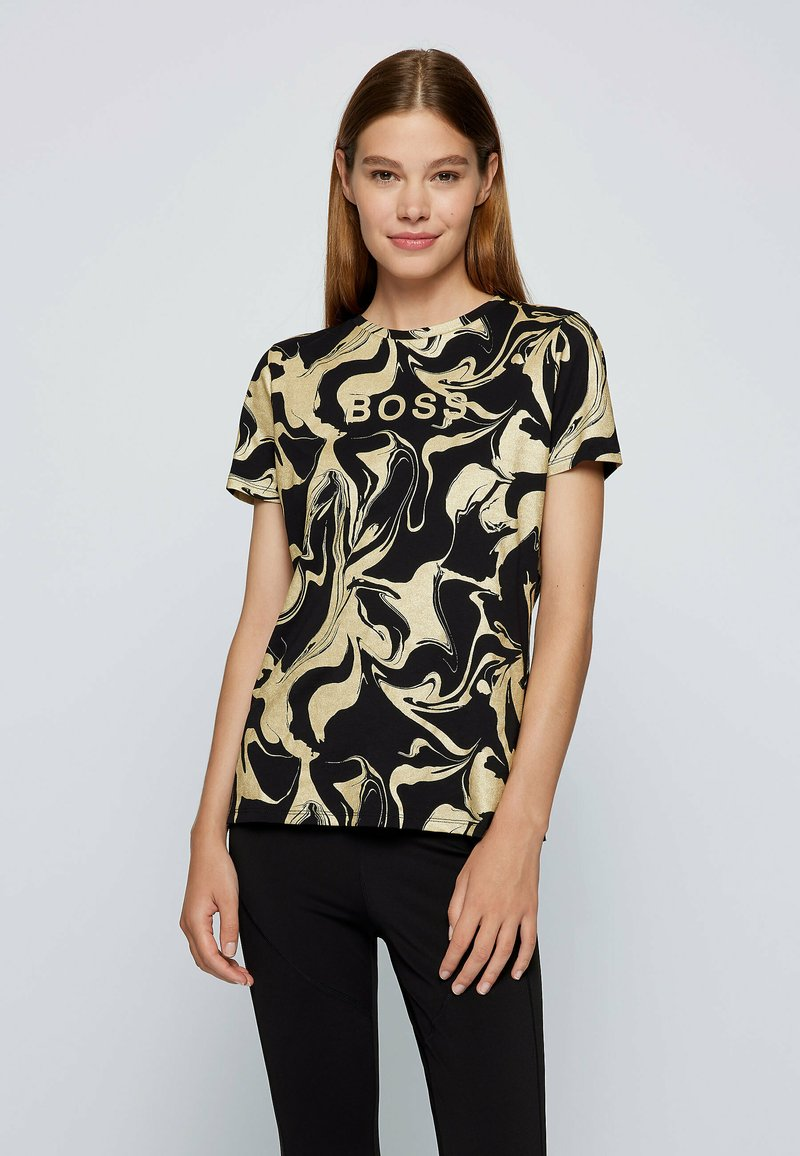 BOSS - C ELOGO GOLD ZAL - Print T-shirt - patterned