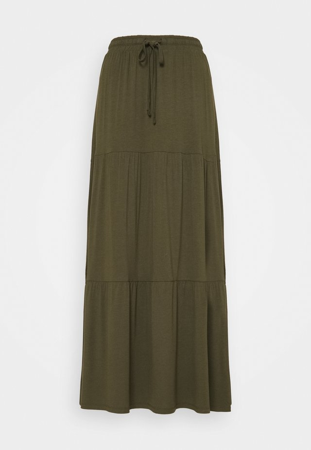 PCNEORA ANKLE SKIRT TALL - Pencil skirt - grape leaf
