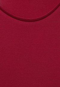 Street One - IM SEIDEN LOOK - Basic T-shirt - rot - 4