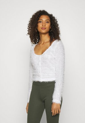 FLUFFY - Strikjakke /Cardigans - white