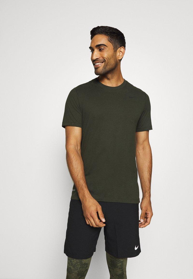 Nike Performance - DRY TEE CREW SOLID - Basic T-shirt - sequoia/black