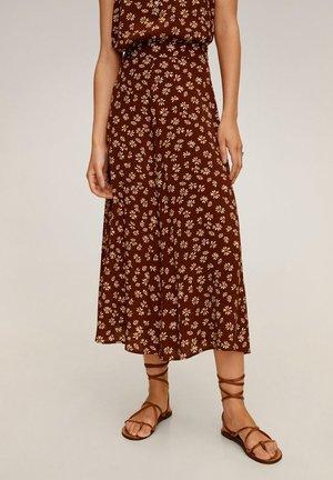 BOMBAY - A-snit nederdel/ A-formede nederdele - brun