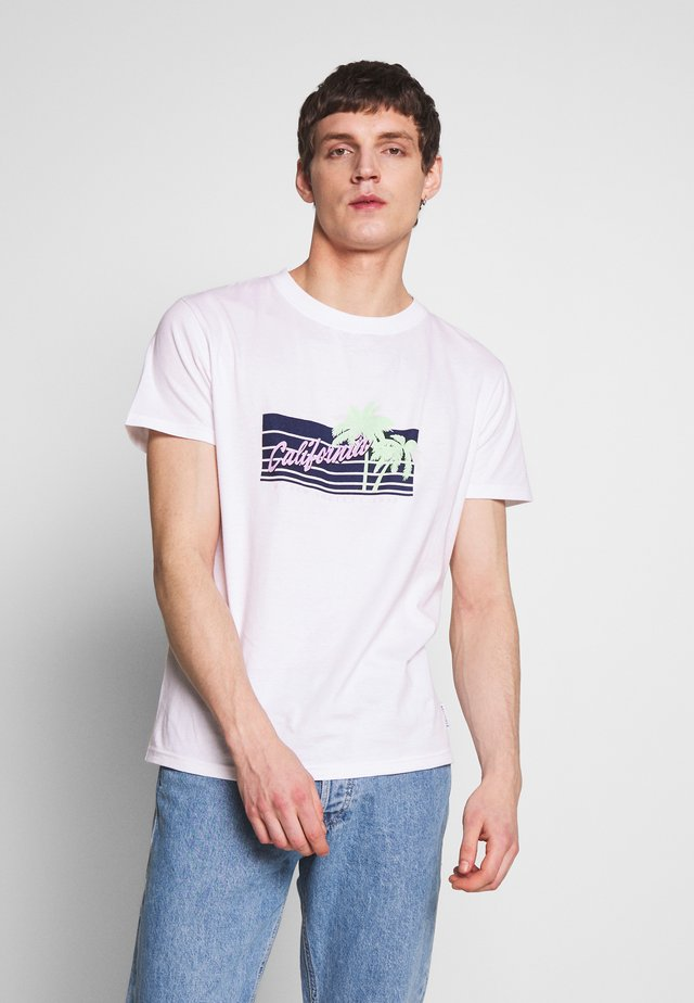 CALIFORNIA  - T-shirt con stampa - white