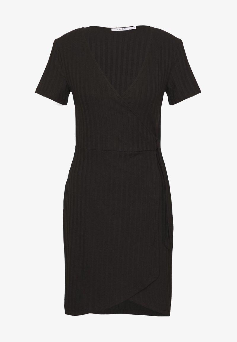 NA-KD - WRAP DRESS - Shift dress - black