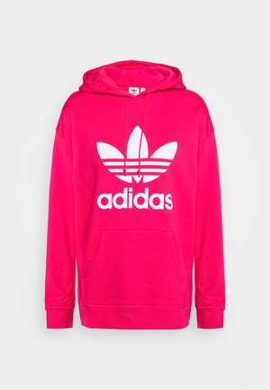 ADICOLOR TREFOIL ORIGINALS HODDIE - Bluza z kapturem - power pink/white