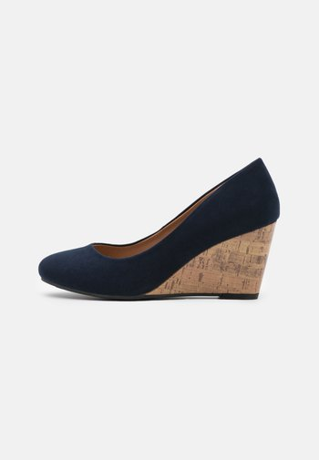 WATERLILLY NEW COMBO - Wedges - navy