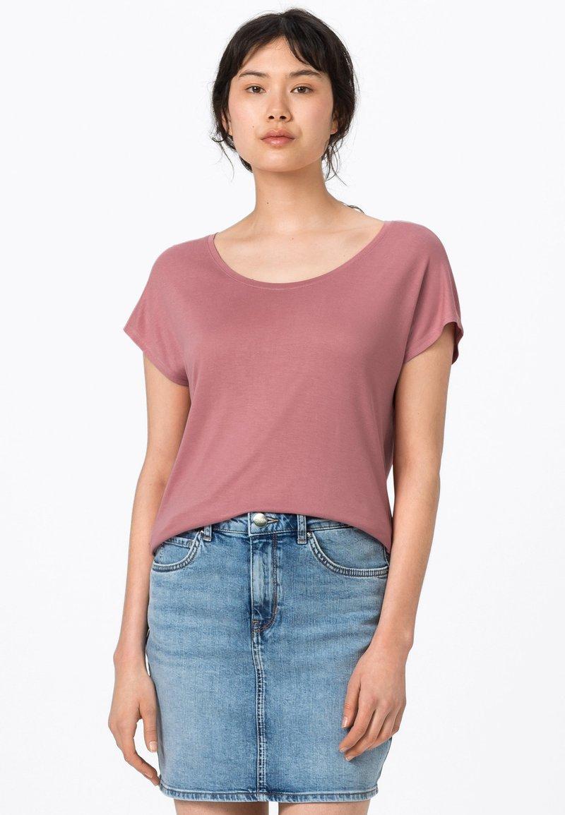 HALLHUBER - WEIT GESCHNITTENES - Basic T-shirt - rosenquarz