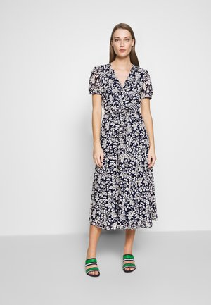 SHORT SLEEVE CASUAL DRESS - Day dress - navy