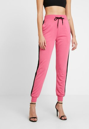 CONTRAST PANEL JOGGERS - Tracksuit bottoms - neon pink