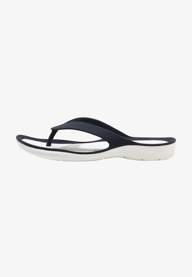 SWIFTWATER - Teenslippers - navy/white