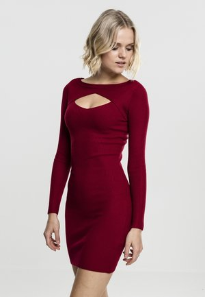 LADIES CUT OUT - Shift dress - burgundy