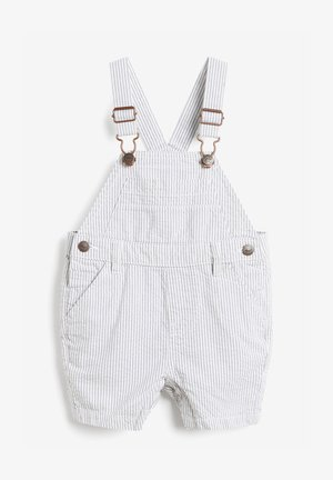 Dungarees - white, blue