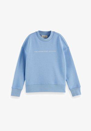 LOOSE-FIT ARTWORK  - Sweatshirt - sky blue
