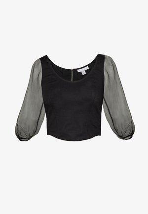 CORSET ORGANZA TOP - Blouse - black