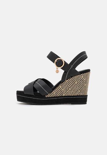 GYPSY - Platform sandals - black